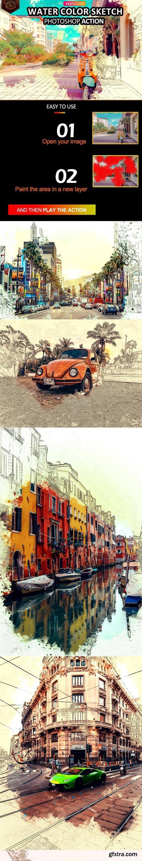 GraphicRiver - Water Color Sketch Photosop Action 32914362