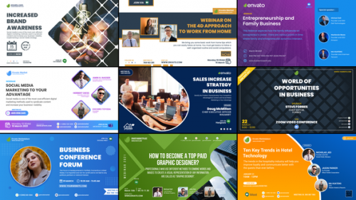 Videohive - Conference Posters & Banners - 31917958 - 31917958