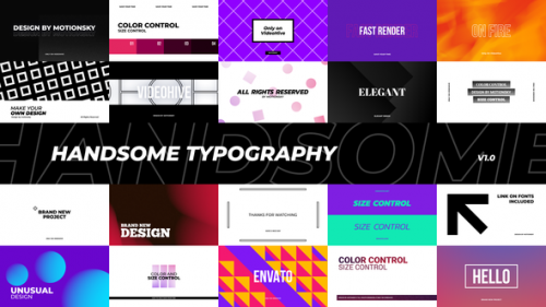 Videohive - Handsome Typography Pack | Premiere Pro - 34201469 - 34201469
