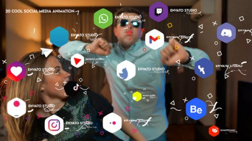 Videohive - Cool Social Media Animation | For Premiere Pro - 34217081 - 34217081