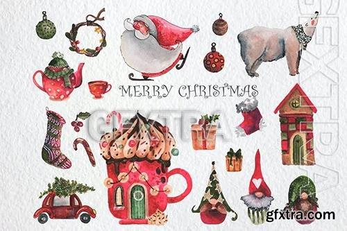 Merry Christmas Watercolor Set 9R6MPF5
