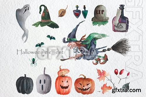 Halloween Watercolor Set BDPQ336