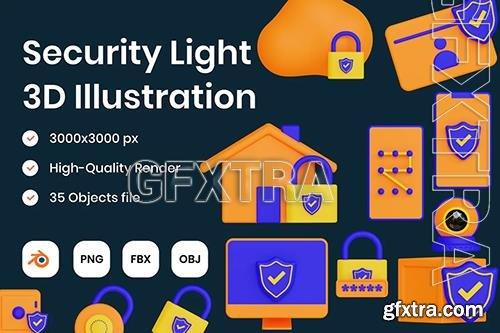Security Light 3D Illustration C5MKHP5