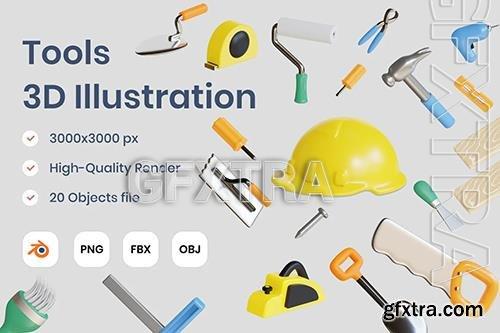 Tools 3D Illustration E66BZBH
