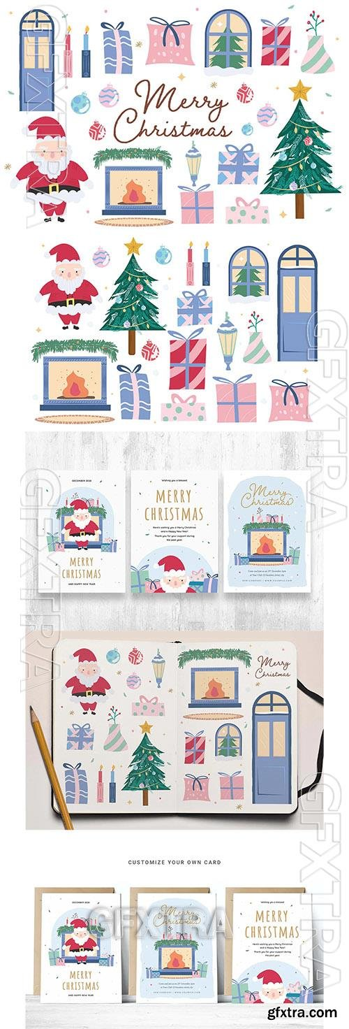 Cute Christmas Clipart Illustrations 2ZUUUQE