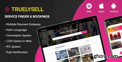 CodeCanyon - TruelySell v2.0.8 - On-demand Service Marketplace, Nearby Service Finder and Bookings (Web + Android + iOS) - 26400110
