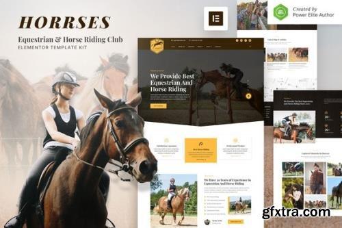 ThemeForest - Horrses v1.0.0 - Equestrian & Horse Riding Club Elementor Template Kit - 34216883