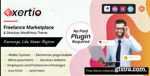 ThemeForest - Exertio v1.0.10 - Freelance Marketplace WordPress Theme - 30602587