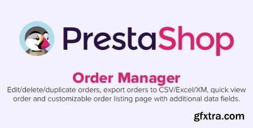 Order Manager v2.2.8 - Edit, delete, export, quick view & more - PrestaShop Module