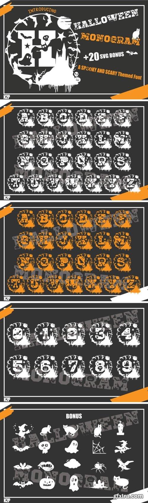 Halloween Monogram Font