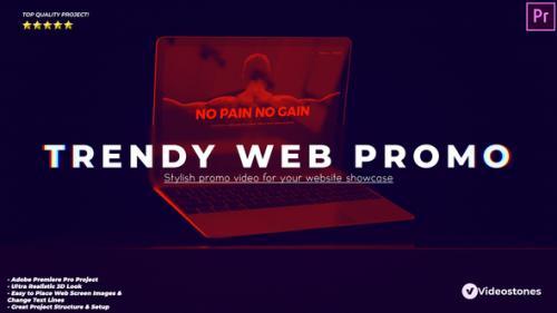 Videohive - Trendy Website Promo - Web Demonstration Premiere Pro - 34180226 - 34180226