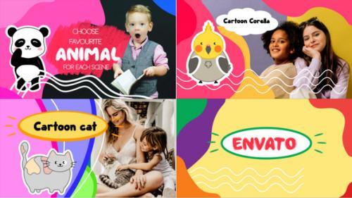 Videohive - Funny Kids Slideshow || Premiere Pro MOGRT - 34193907 - 34193907
