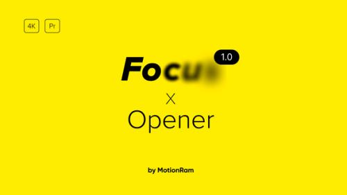 Videohive - Focus Opener - for Premiere Pro | Essential Graphics - 34216839 - 34216839