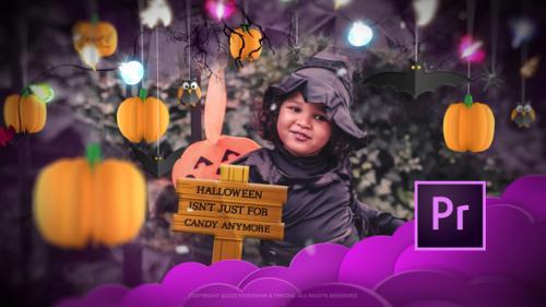 Videohive - Halloween Stylish Slideshow Opener Mogrt - 34256895 - 34256895