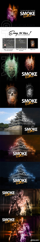 CreativeMarket - Smoke Effect Photoshop Action 2897739