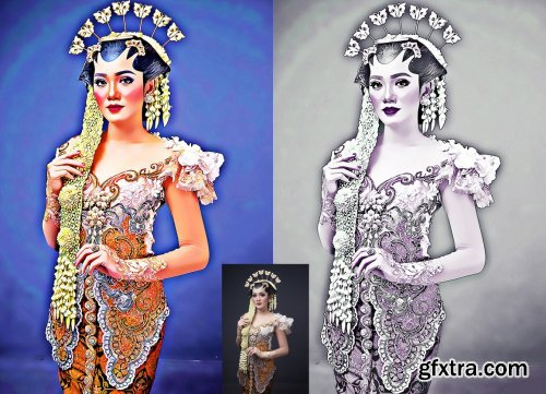CreativeMarket - 3D Oil Effect Photoshop Action 5702028