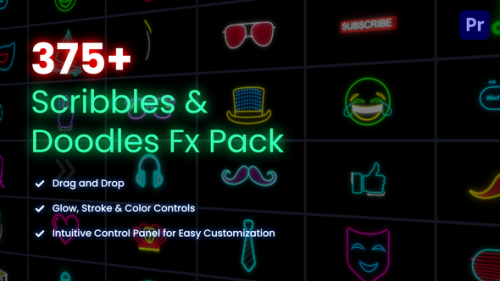 Videohive - Scribbles & Doodles FX Pack for Premiere Pro - 25784027 - 25784027