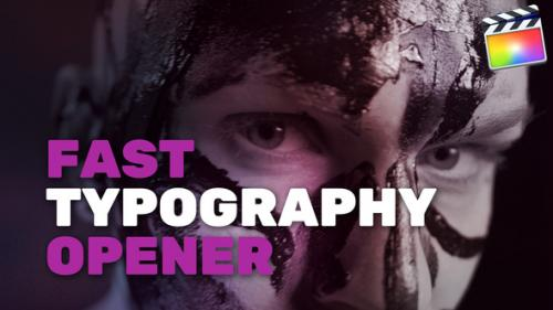 Videohive - Fast Typography Opener - 34211581 - 34211581