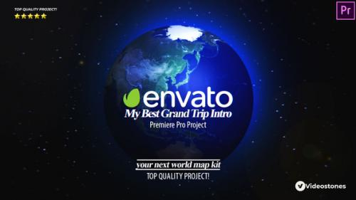 Videohive - Best Grand Trip Intro | World Map Kit Premiere Pro - 34222064 - 34222064