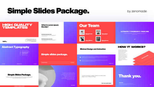 Videohive - Simple Slides for Premiere - 34227653 - 34227653