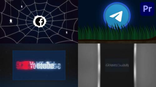 Videohive - Halloween Logo Pack | Premiere Pro MOGRT - 34242097 - 34242097