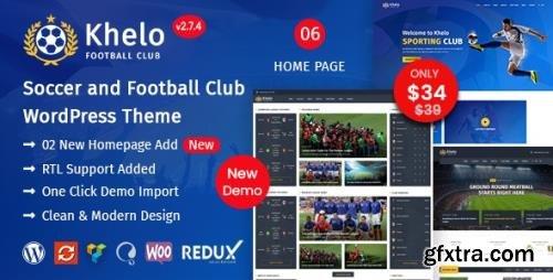 ThemeForest - Khelo v2.7.4 - Soccer & Sports WordPress Theme - 23889382 - NULLED