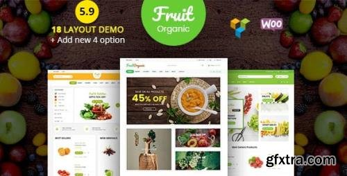 ThemeForest - Food Fruit v5.9.0 - Organic Farm, Natural RTL Responsive WooCommerce WordPress Theme - 19858481