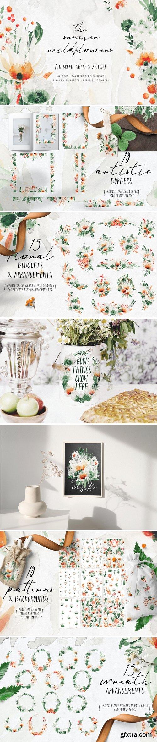 Summer Wildflowers Illustration Pack