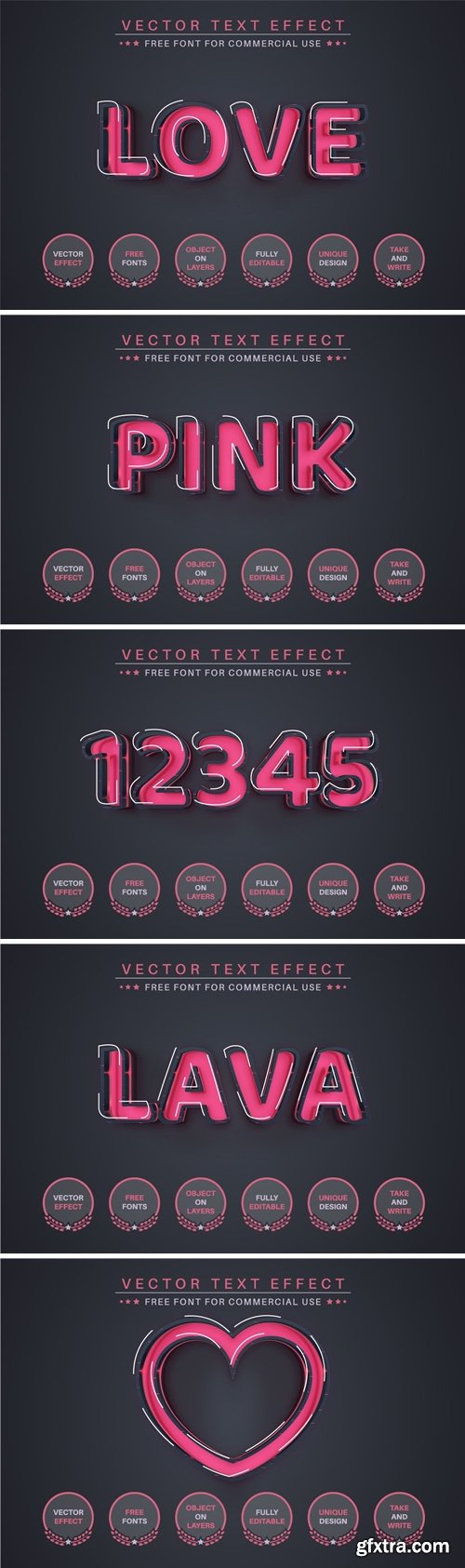 Love - Editable Text Effect, Font Style