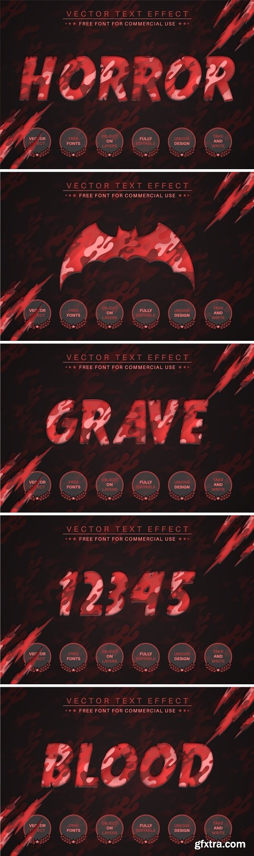 Blood Paper - Editable Text Effect, Font Style