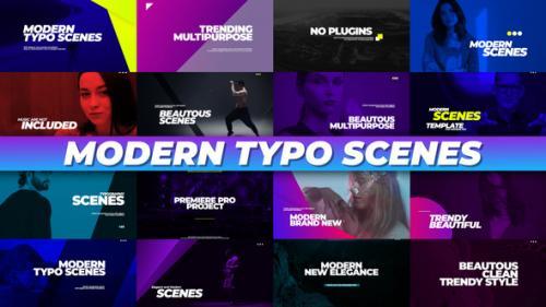 Videohive - Modern Typo Scenes - 34095296 - 34095296