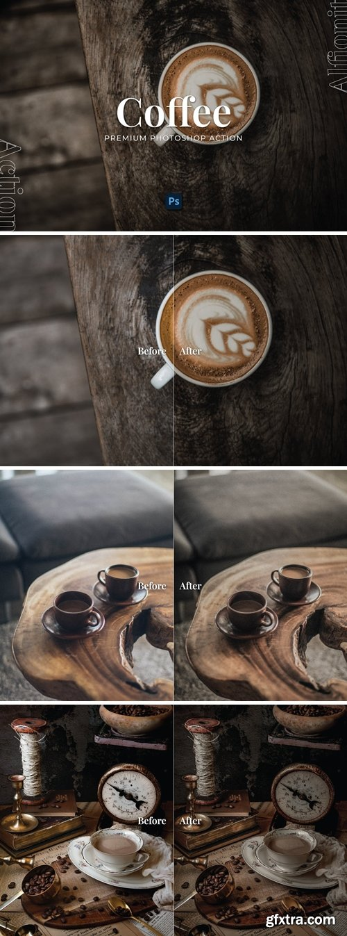 Coffee Photoshop Action