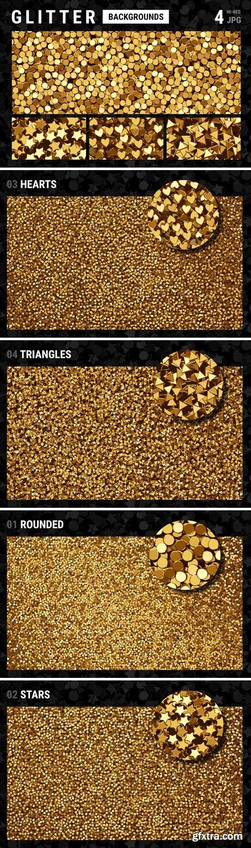 Golden Glitter Textures