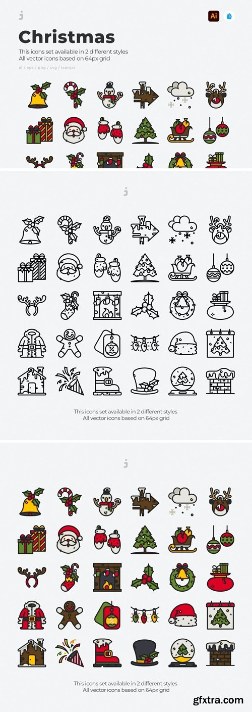 30 Christmas Icons