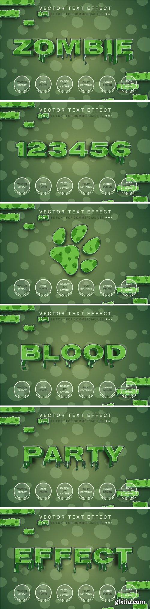 Zombie 3D - Editable Text Effect, Font Style