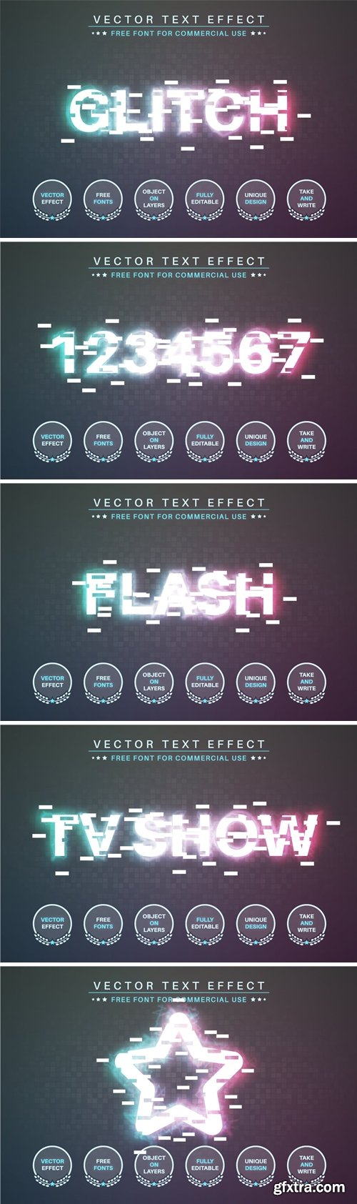 Glitch - Editable Text Effect, Font Style