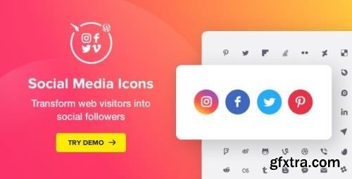 CodeCanyon - Social Media Icons WordPress v1.7.1 - Social Icons Plugin - 20612375