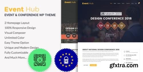 ThemeForest - Event Hub v1.1.1 - Event, Conference WordPress Theme - 19762696