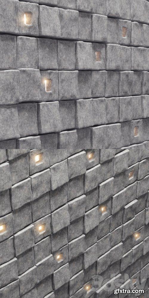 Panel stone cube
