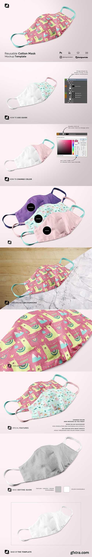 CreativeMarket - Reusable Cotton Mask Mockup 5360750