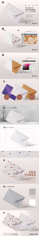CreativeMarket - Rectangular Letter Envelope Mockup 5360822