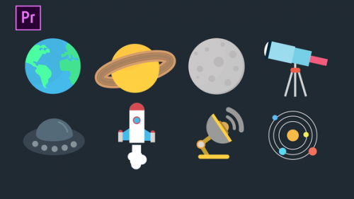 Videohive - Space Icons Pack - 34259616 - 34259616