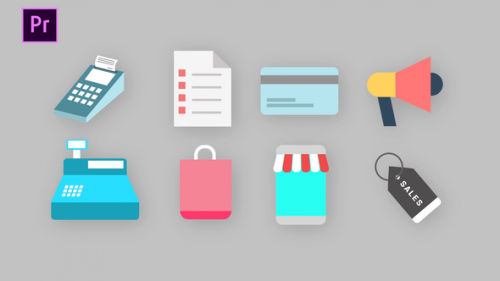 Videohive - Shopping Icons Pack - 34260204 - 34260204