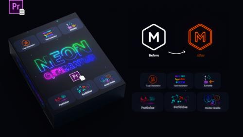 Videohive - Neon Generator Toolkit | MOGRTs - 34271591 - 34271591
