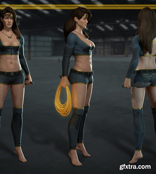 Wonder Woman Undersuit 3D Model