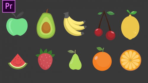 Videohive - Fruits Icons - 34271969 - 34271969