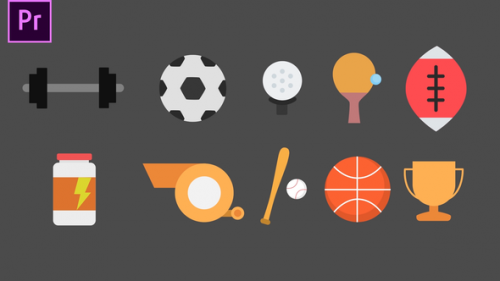 Videohive - Sport Animated Icons - 34272076 - 34272076
