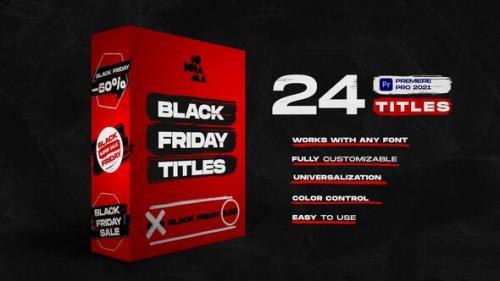 Videohive - Black Friday Titles | Premiere Pro - 34274187 - 34274187