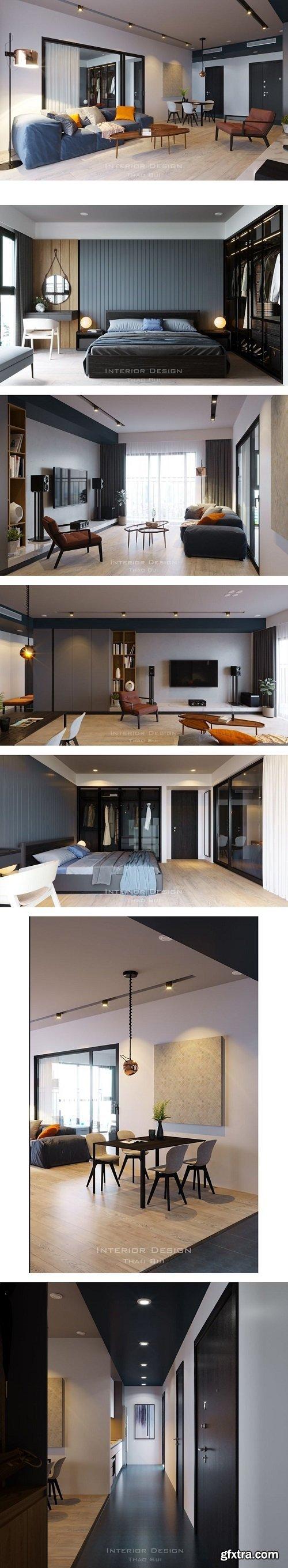 Interior Apartment Scene By ThaoBui
