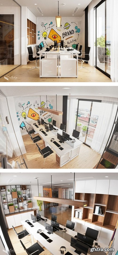 Office Room Scene 3dsmax By DinhVanHuan